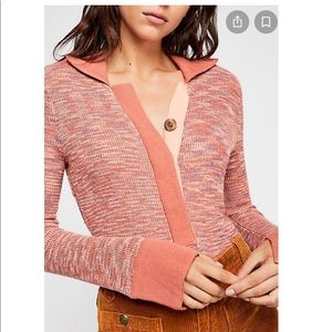 Free People Making Memories Sweater Henley Small